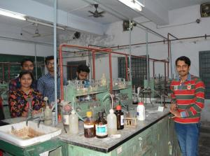 Working at Lab